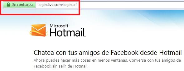 direccion web hotmail