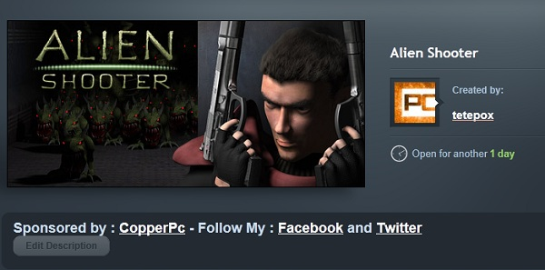 steam alien shooter copperpc gift