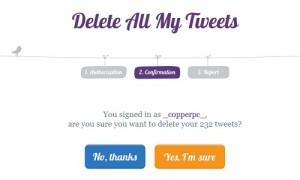 Delete All My Tweets