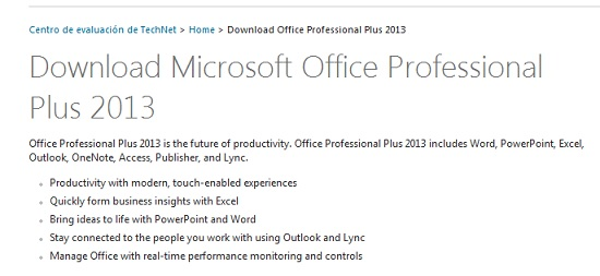 descarga Office Professional Plus 2013