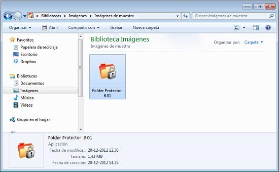 Folder Protector archivos ocultos