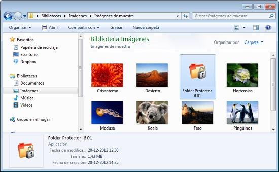 Folder Protector carpeta contraseña