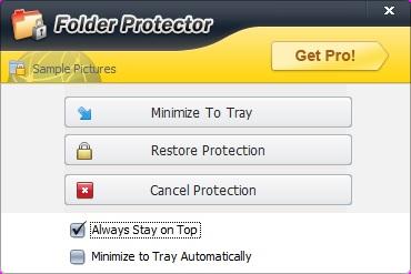 Folder Protector mostrar archivos ocultos